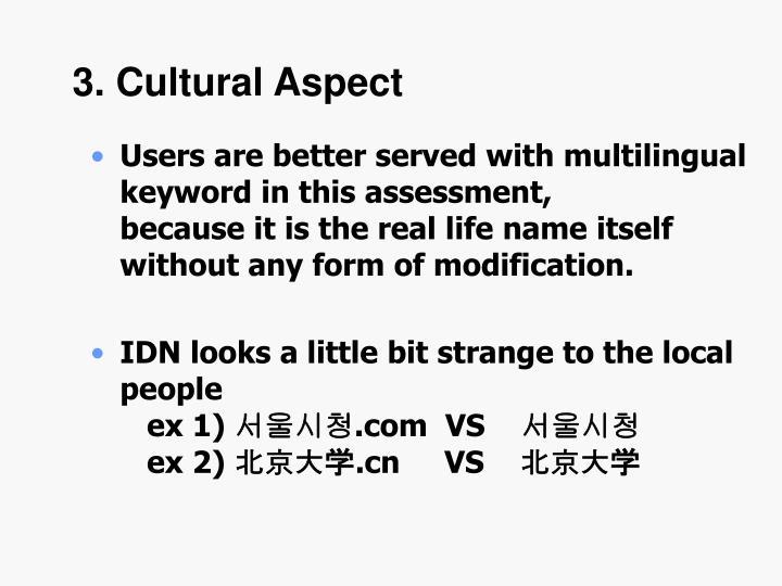 3. Cultural Aspect