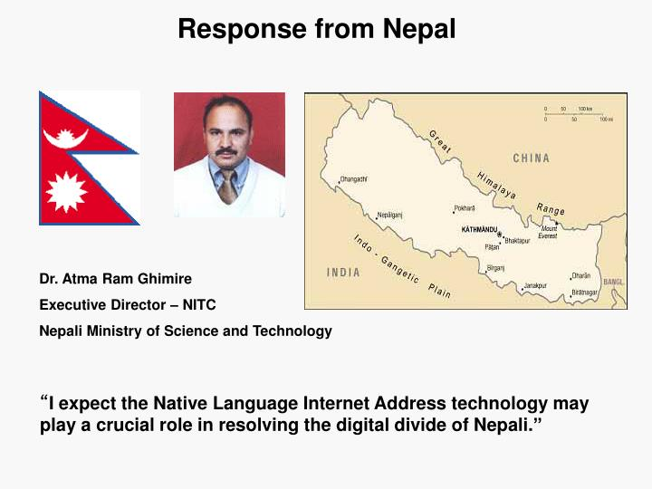 Response from Nepal