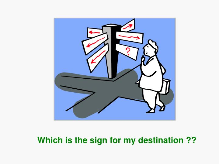 Which is the sign
