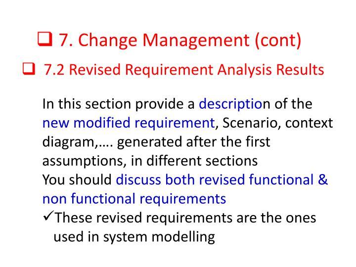 7. Change