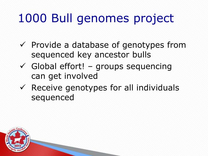1000 Bull genomes project