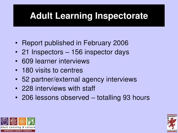 Adult Learning Inspectorate