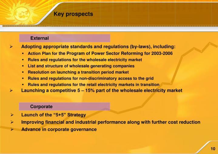 Key prospects