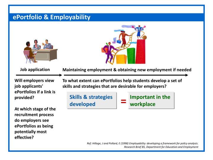 ePortfolio & Employability