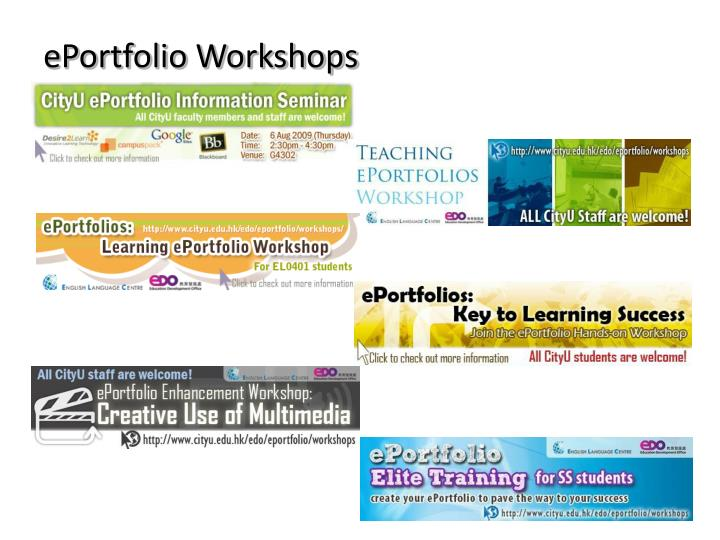 ePortfolio Workshops