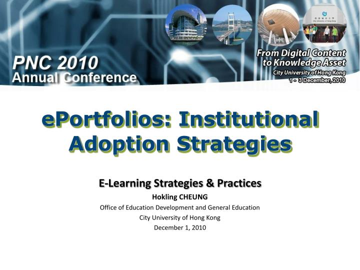 ePortfolios: Institutional Adoption Strategies