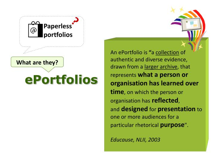 Paperless portfolios