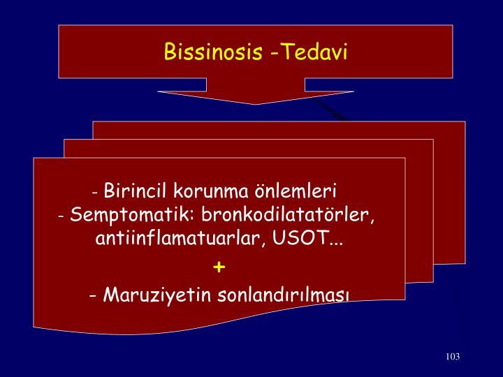 Bissinosis -Tedavi