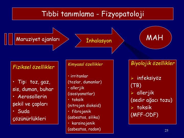 Tıbbi tanımlama - Fizyopatoloji