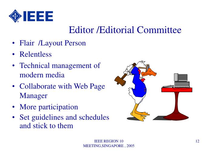 Editor /Editorial Committee