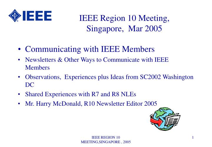 IEEE Region 10 Meeting,