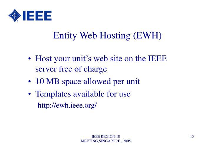 Entity Web Hosting (EWH)