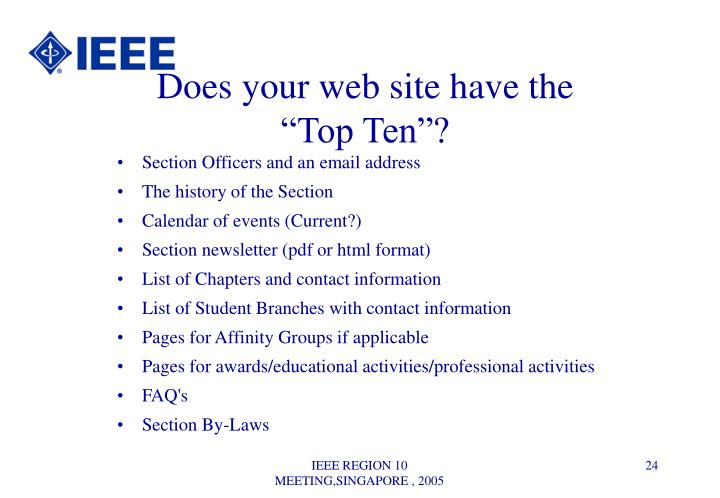 Does your web site have the