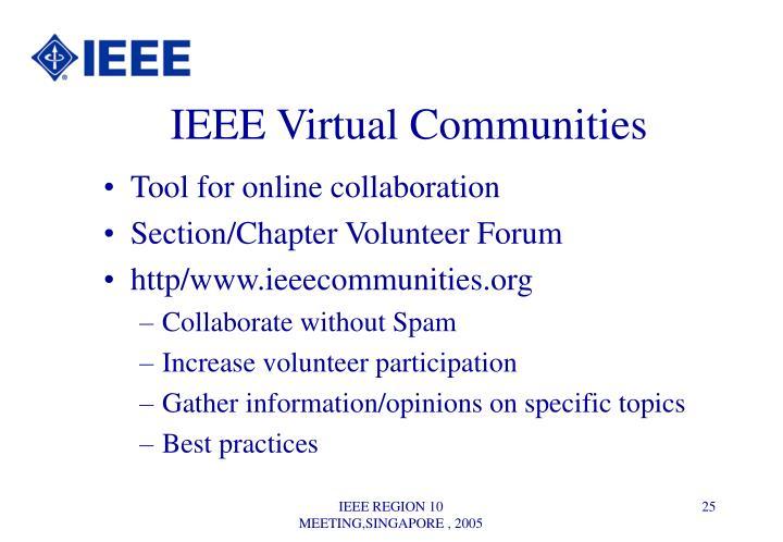 IEEE Virtual Communities