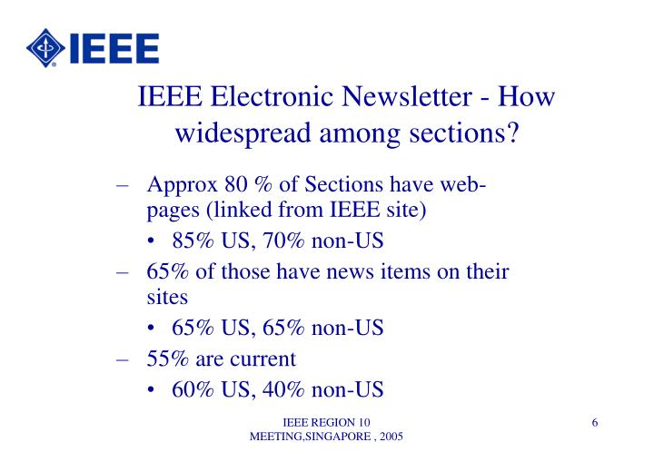 IEEE Electronic Newsletter - How widespread among sections?
