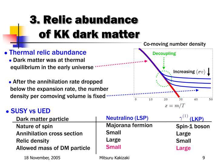 3. Relic abundance