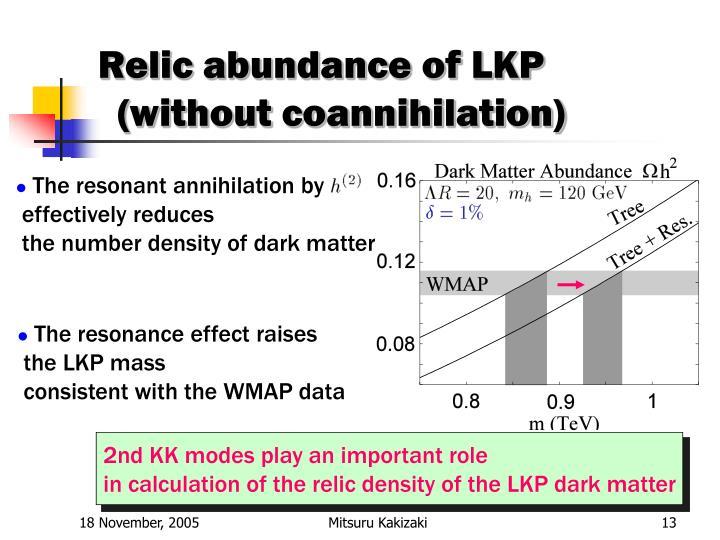Relic abundance of LKP