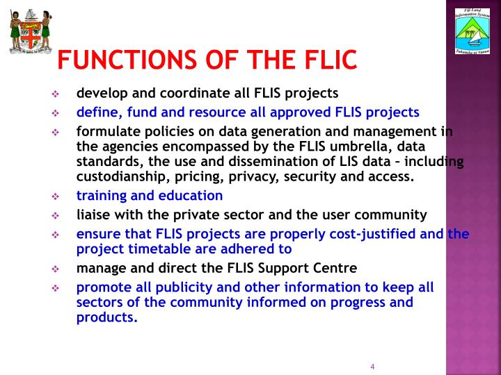 Functions of the FLIC