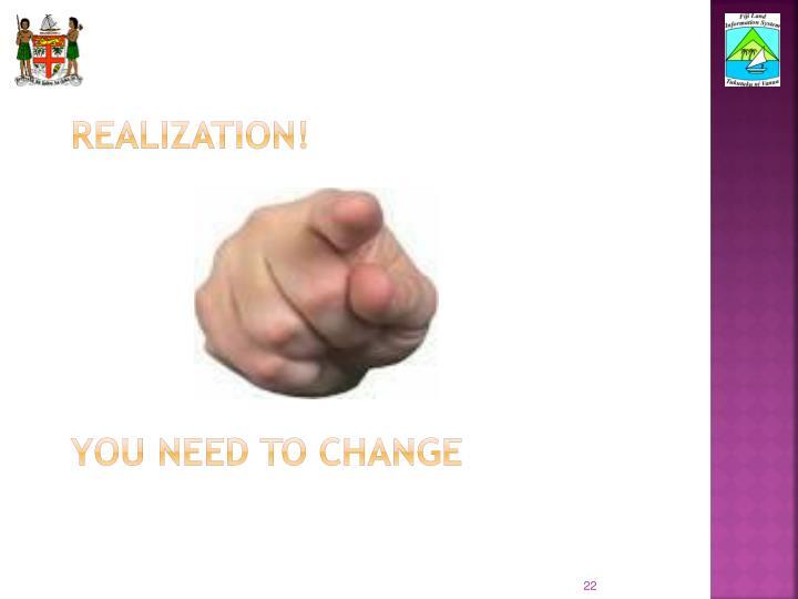 realization!
