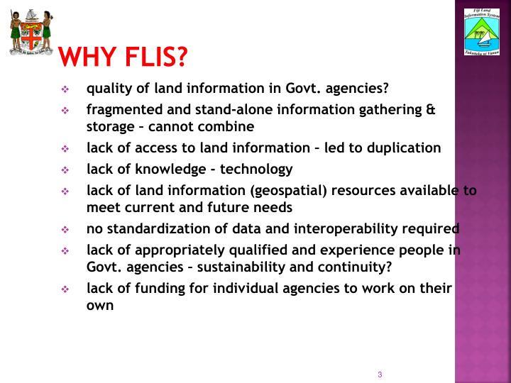Why FLIS?
