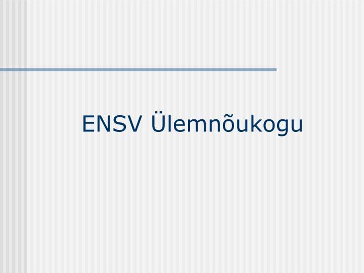 ENSV Ülemnõukogu