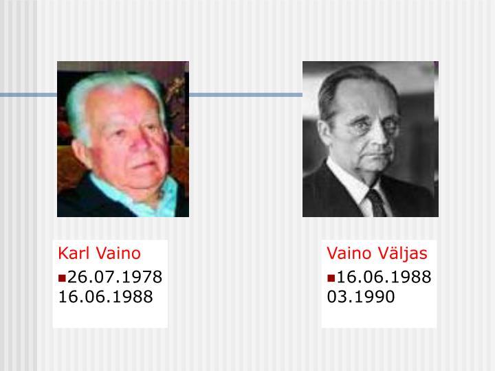 Karl Vaino