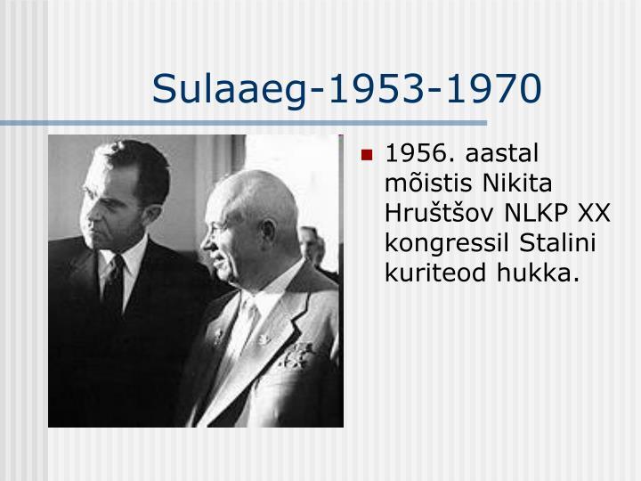 1956. aastal mõistis Nikita Hruštšov NLKP XX kongressil Stalini kuriteod hukka.