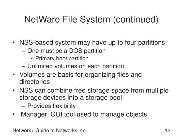 NetWare File System (continued)