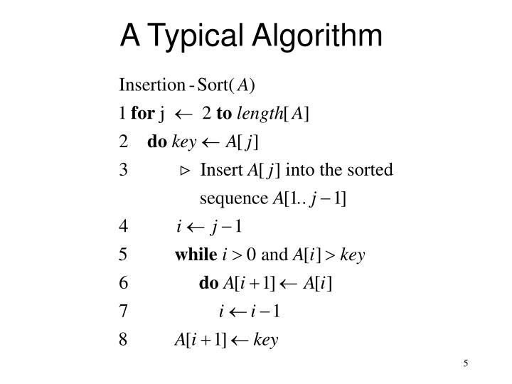 A Typical Algorithm
