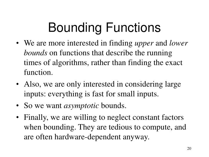 Bounding Functions
