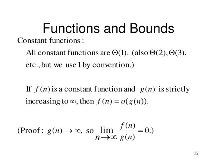 Functions and Bounds