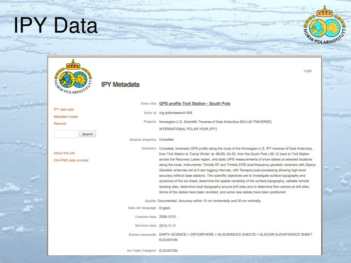 IPY Data