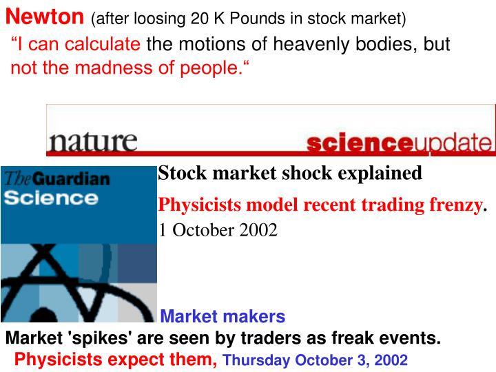 Stock market shock explained