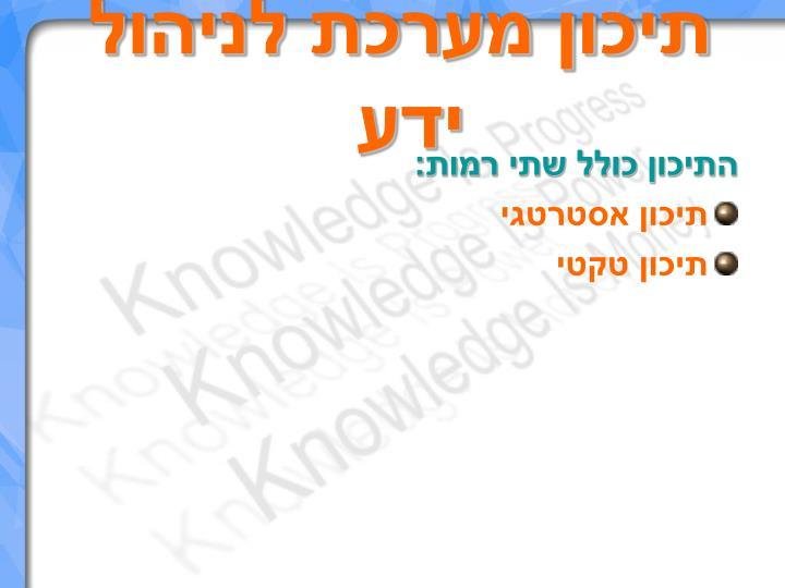 תיכון מערכת לניהול ידע