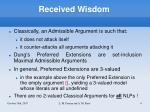 received wisdom
