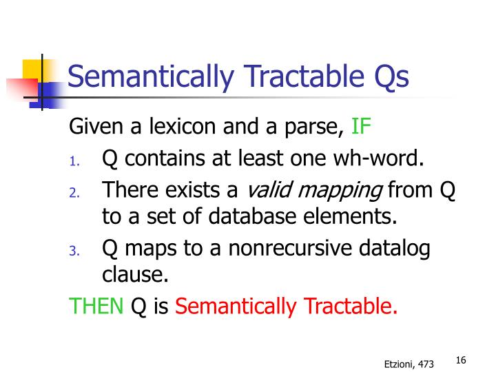 Semantically Tractable Qs