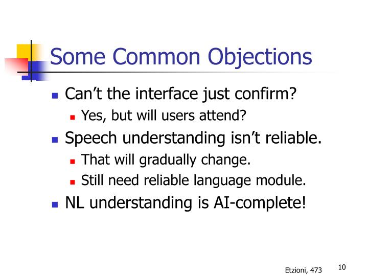 Some Common Objections