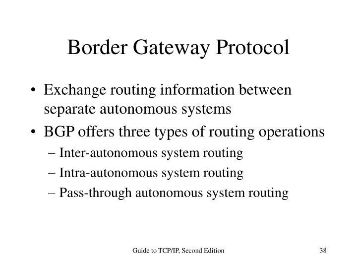 Border Gateway Protocol