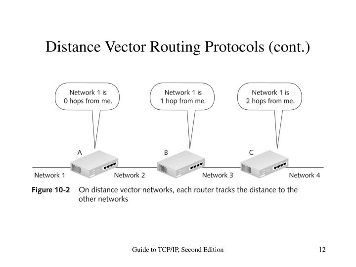 Distance Vector Routing Protocols (cont.)