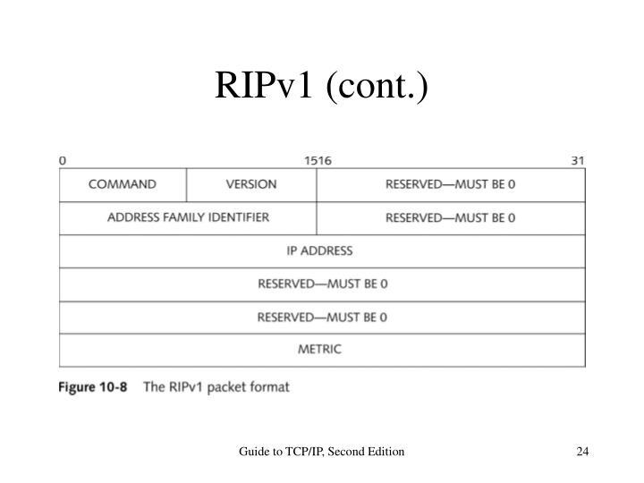 RIPv1 (cont.)