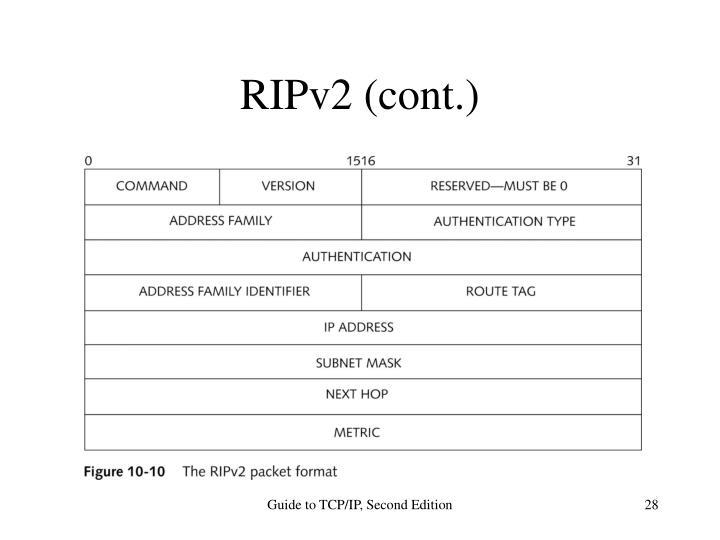 RIPv2 (cont.)