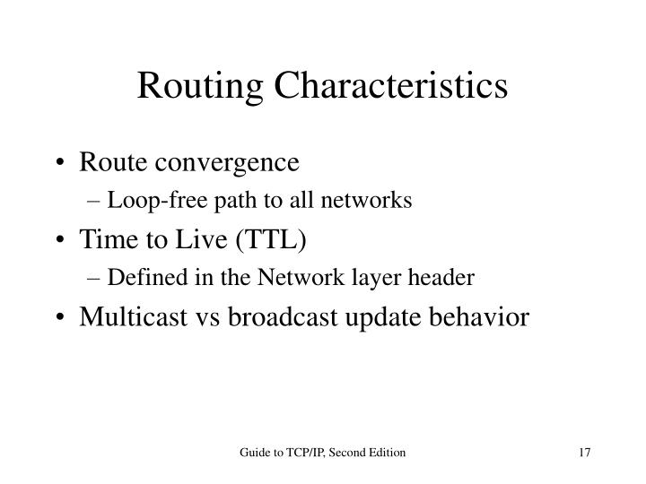 Routing Characteristics