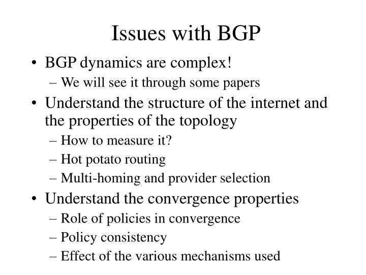 Issues with BGP