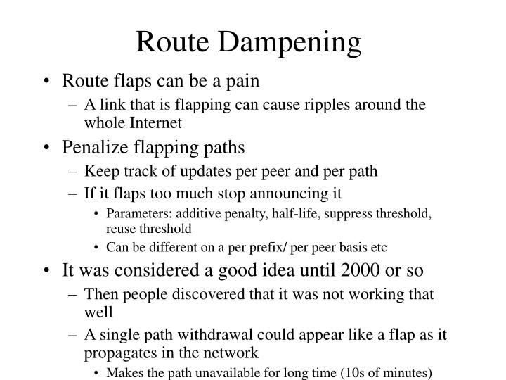 Route Dampening