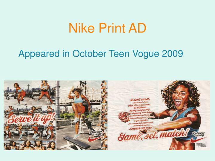 Nike Print AD