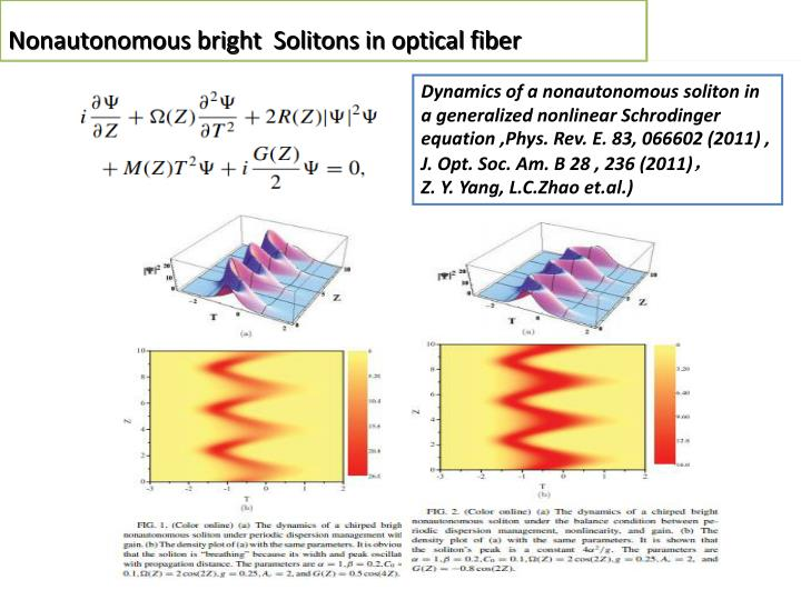Nonautonomous bright  Solitons in optical fiber