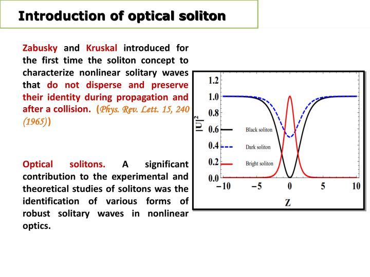 Introduction of optical soliton