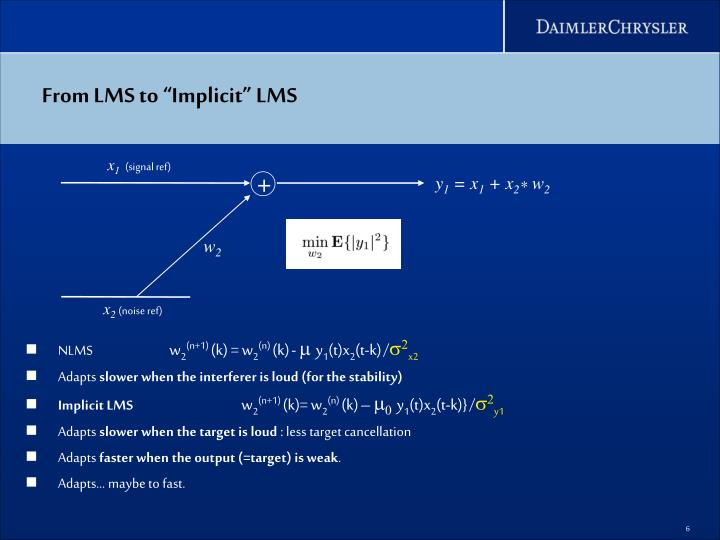"From LMS to ""Implicit"" LMS"