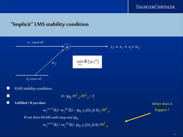 """Implicit"" LMS stability condition"