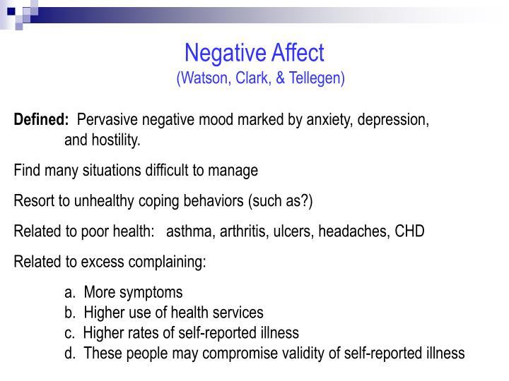 Negative Affect